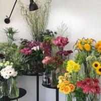 今日も色とりどりのお花たちと一緒にお待ちしています(2019.07.29)