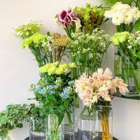今日も色とりどりのお花たちと一緒にお待ちしています(2019.09.20)