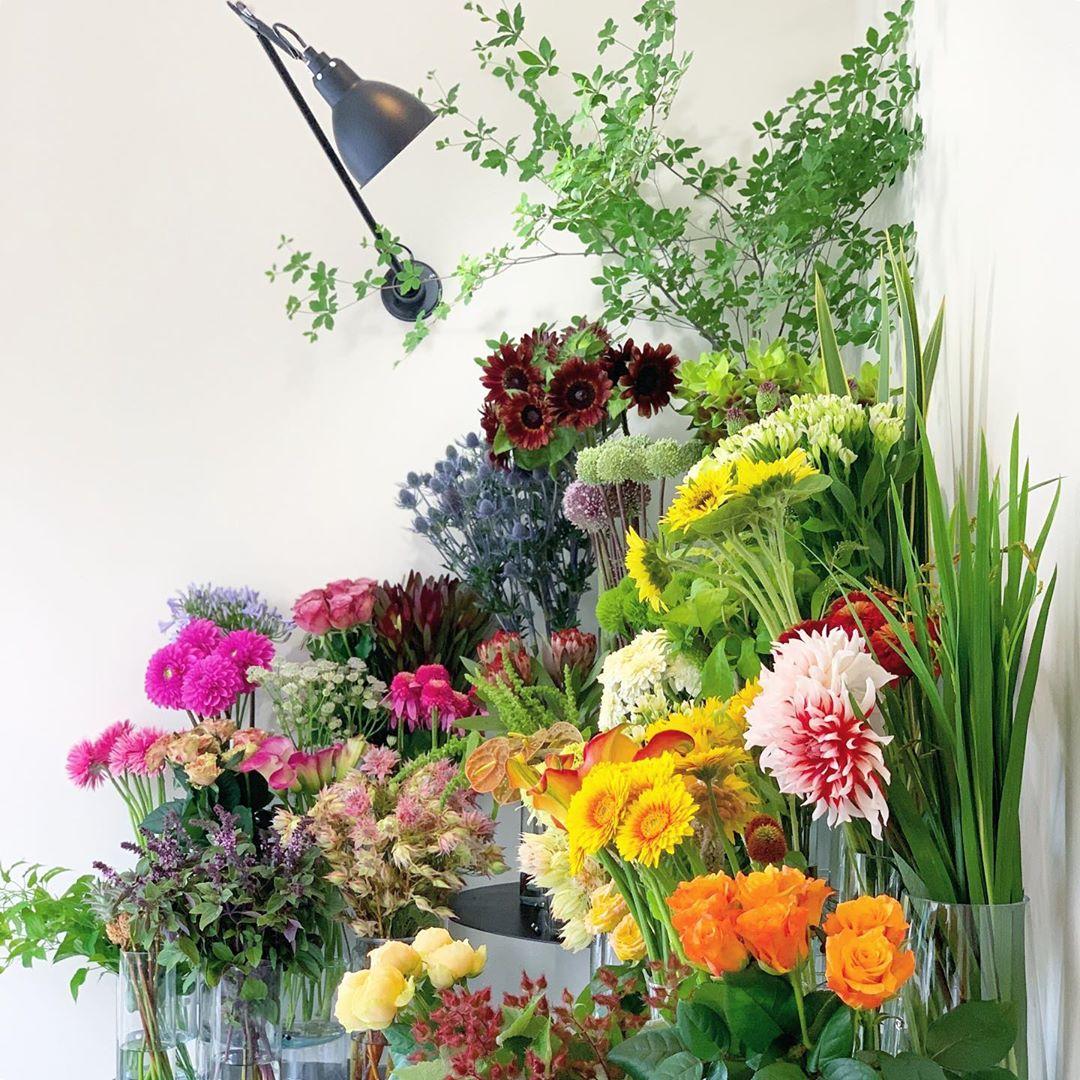 今日も色とりどりのお花たちと一緒にお待ちしています(2020.07.04)