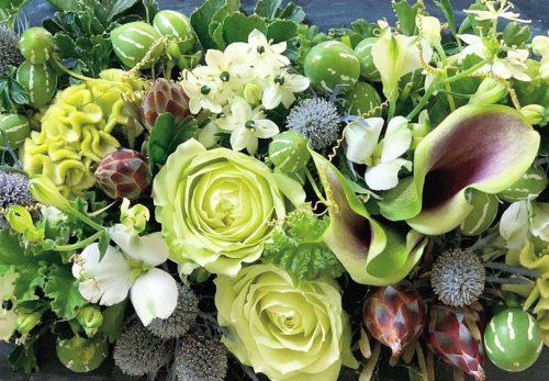 今日も色とりどりのお花たちと一緒にお待ちしています(2020.10.13)
