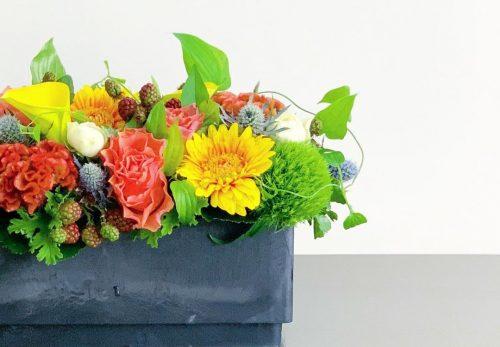 今日も色とりどりのお花たちと一緒にお待ちしています(2021.09.13)